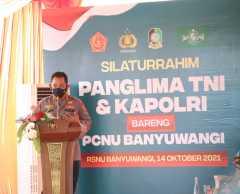 Silahturahmi dengan PCNU Banyuwangi, Kapolri ajak perkuat penanganan Covid-19